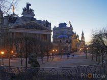 Blaue Stunde – Dresden Neujahr 2018