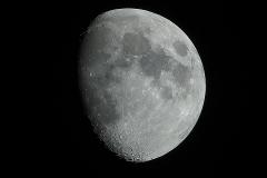 Mond über Dresden, 04.06.2017, 22:17 Uhr // Olympus OM-D E-M1 - 600 mm - f8.0 - ISO200 - 1/125 s